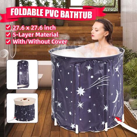 5 Diaper Adult Baby Portable Folding Bathtub, PVC Tub
