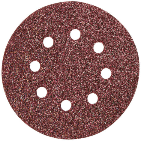 5 Discos Abrasivos Velcro 125 mm Ratio