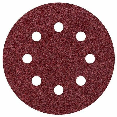 5 discos adhesivos de lijar ø 115 mm para lijadoras excéntricas Wolfrcraft Grano 60