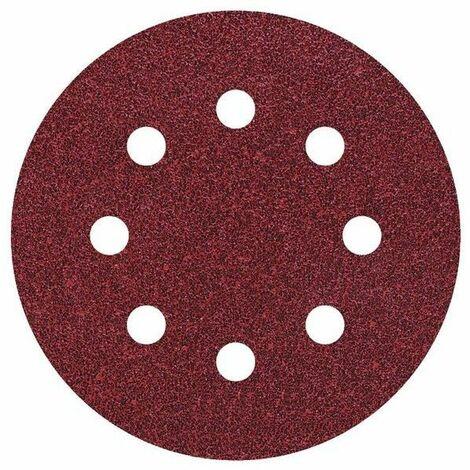 5 discos adhesivos de lijar ø 115 mm para lijadoras excéntricas Wolfrcraft Grano 80