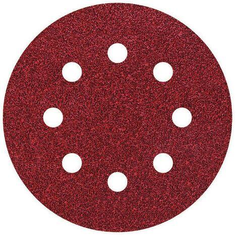 5 discos adhesivos de lijar ø 125 mm Wolfcraft Grano 24