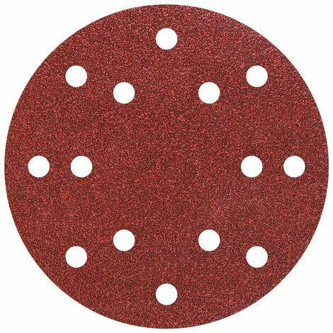 5 discos adhesivos de lijar para lijadoras excéntricas ø 150 mm Wolfcraft Grano 80