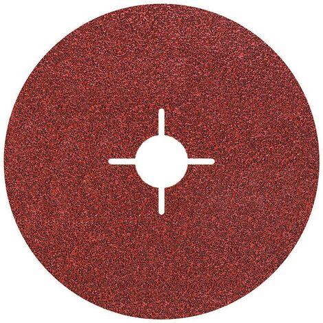 "main image of ""5 discos de lijar de fibra para metal amoladora angular Wolfcraft GR 60 Ø 115 mm"""