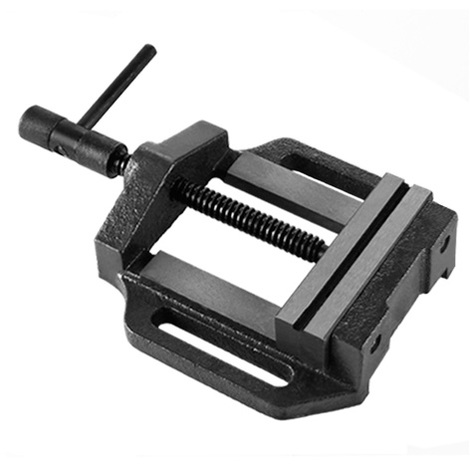 """5"""" Drill Press Vice (125 mm Jaws, 100 mm Opening, 4.5 kg Cast Steel, Solid Construction) Vise"""