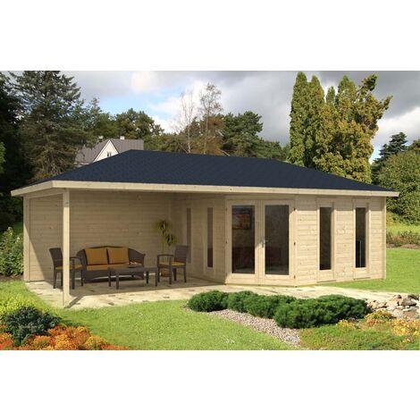 5-Eck Gartenhaus Modell Nancy-40, ohne Imprägnierung