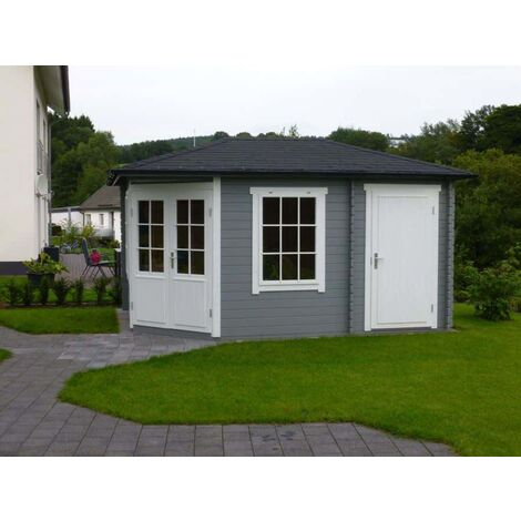 5-Eck Gartenhaus Modell Rhein ISO