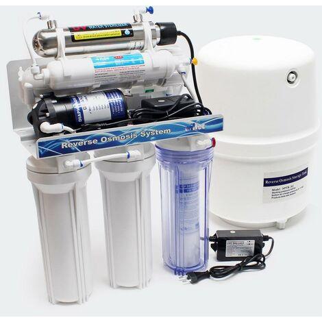 5 étapes osmose inverse (RO) 180l/jour avec la lumière UV