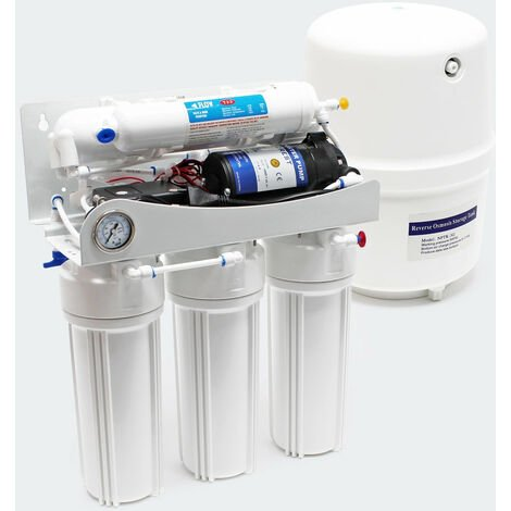 5 étapes osmose inverse RO 180l/jour avec pompe de surpression