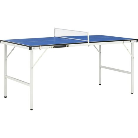 5 Feet Ping Pong Table with Net 152x76x66 cm Blue