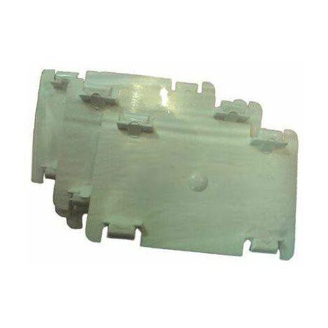 5 fixe-câbles pour moulure 32x12,5 mm