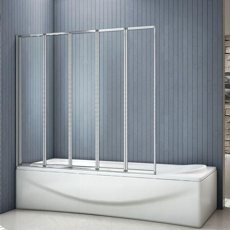 "main image of ""AICA 1/2/3/4/5 Panel Folding Shower Bath Screen"""