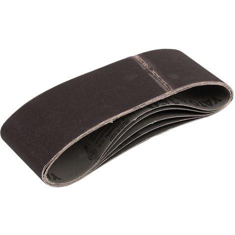 5 Gewebe-schleifbänder 100 x 610 mm Körnung 36-150