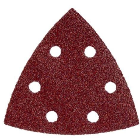5 hojas de lijar adhesivas 93x93 mm,P 80,mad+met,lijadoras triangulares (624942000)