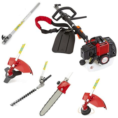 5 in 1 Petrol Hedge Trimmer Chainsaw Brushcutter Garden Multi Tool