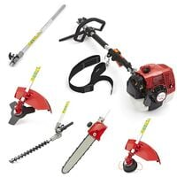 5 in 1 Petrol Long Reach Hedge Trimmer Chainsaw Brushcutter