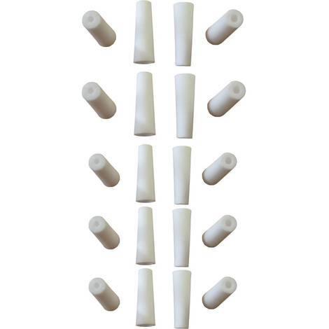 5 jeux de 4 buses ceramique blanches pour porte buse sableuse 38-76l a jet libre