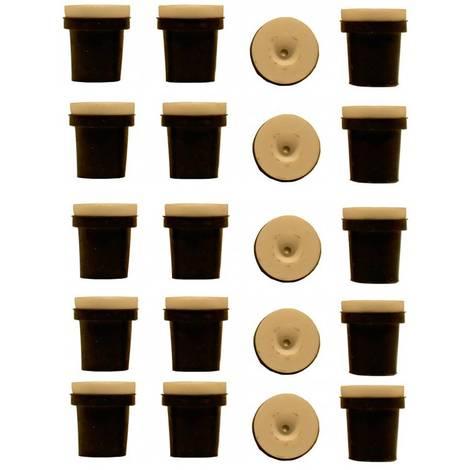 5 jeux de 4 buses ceramique noires pour pistolet sableuse 38-76l a jet libre