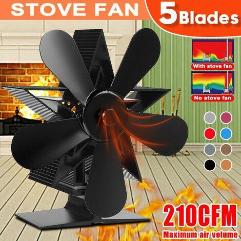 5 lames 1350 tr / min Ventilateur de cuisinière Ecofan de cheminée à économie de chaleur (ventilateur de cuisinière) No?l