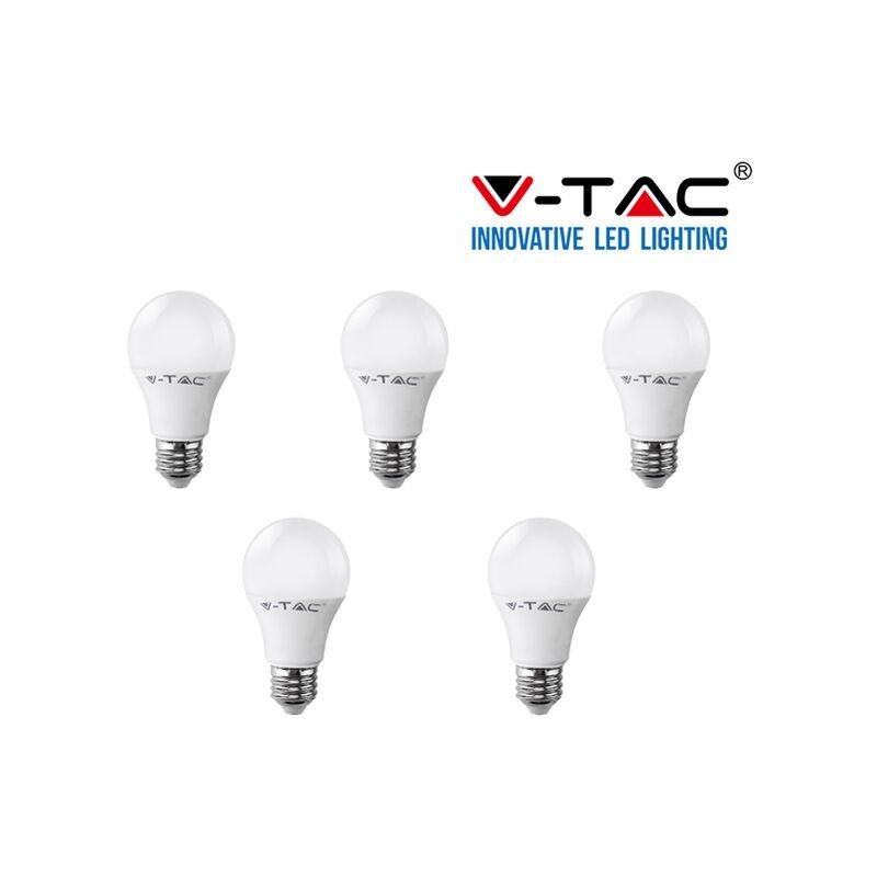 5 LAMPADINE LED V-Tac Bulbo E27 da 9W Lampade Luce Calda Naturale Fredda-naturale - S-DSHOP