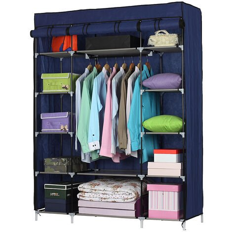 """main image of """"5-Layer 12-Compartment Non-woven Fabric Wardrobe Portable Closet(133x46x170cm)-different color"""""""