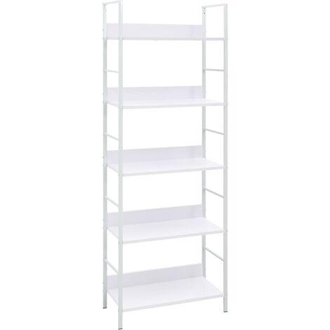 5-Layer Book Shelf White 60x27.6x158.5 cm Chipboard