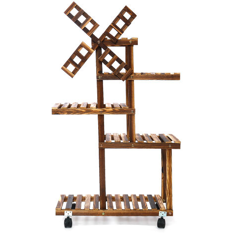 5 layer Wooden Flower Rack Plant Stand 58x25x87cm