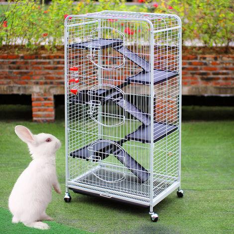 5 Layers Large Cage Pet Rabbit Ferret Hamster Chinchilla Rat Hutch Metal Wire