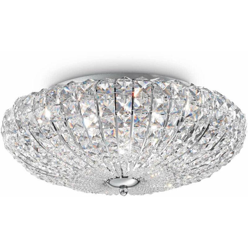 01-ideal Lux - 5-Licht VIRGIN Kristall Chrom Deckenleuchte