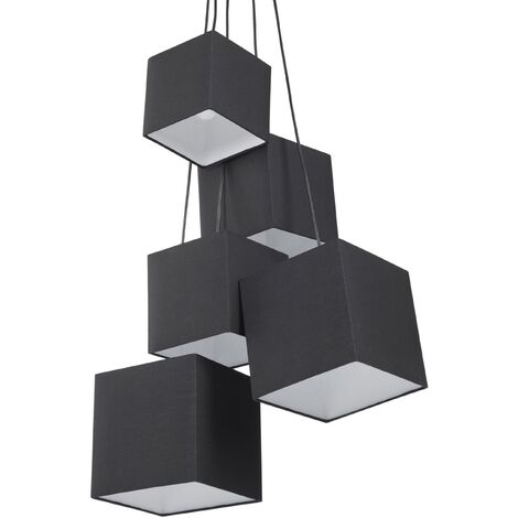 5 Light Cluster Pendant Lamp Black MESTA