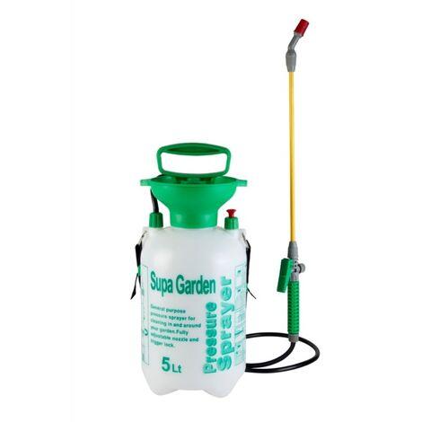 5 Litre Manual Knapsack Garden Pressure Sprayer Spray Kill Weeds SupaGarden