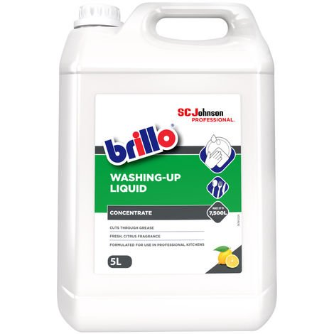 5 Litres Brillo Washing Up Liquid Formulated for Professional Kitchens