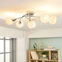 5 luci Plafoniera LED Benedikt paralumi in vetro