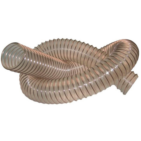 5 M de tuyau flexible d'aspiration bois D. 200 mm spire acier cuivré PU 0,6 mm - DW-257258017 - Diamwood