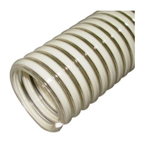5 M de tuyau flexible d'aspiration et refoulement D. 25 mm 7 bar à spirale PVC antichoc - DW-754775000 - Diamwood