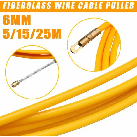 5 m in length x 6 mm in diameter. & Nbsp; Drilling device for fiberglass cable extractor tube (5 m)