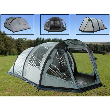 5 Man Inflatable Tent (Family Blow Up Camping Air Shelter with Pump)