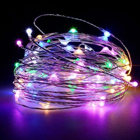 5 metres 50 lumieres (clignotant colore) lumieres de chaine de vacances USB LED guirlande de fil de cuivre lumieres decoration interieure