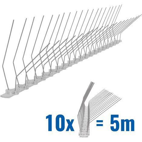 5 metros de Púas antipalomas para canalón con base de policarbonato - 2-hileras de Púas antipalomas la solución de calidad para el control de aves