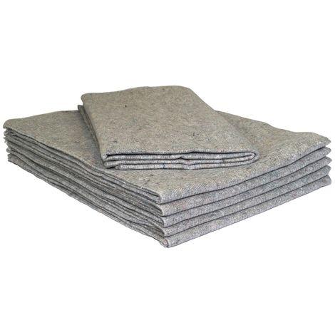 5 Möbeldecken Umzugsdecken 130 x 200 cm Packdecken Lagerdecken für Umzug