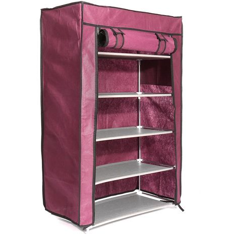 5 Niveaux ¨¦tag¨¨re ¨¤ Chaussures Armoire De Stockage Organisateur Stand ¨¦tag¨¨re Titulaire 15 Paires Antipoussi¨¨re