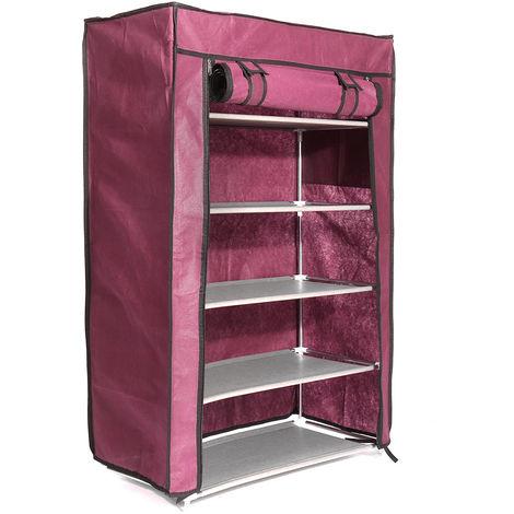 5 niveles zapatero estante de almacenamiento organizador soporte soporte estante 15 pares a prueba de polvo