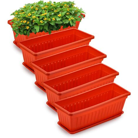 """main image of """"5 Pack 17 Inches Flower Window Box Plastic"""""""