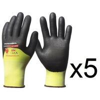 5 paires de gants HPPE enduction 3/4 nitrile haute visibilité N318HVC EuroCut- plusieurs modèles disponibles