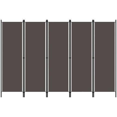 5-Panel Room Divider Anthracite 250x180 cm