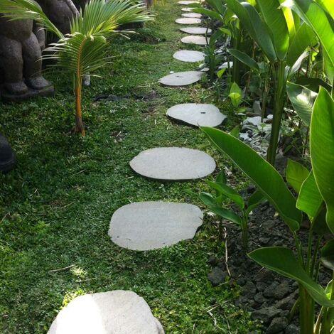 5 Pas japonais en pierre galet de rivière 50-55cm