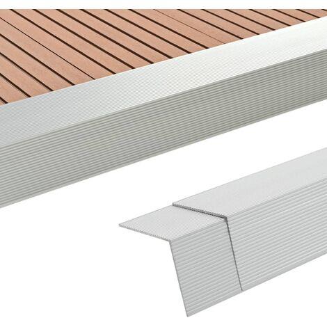 "main image of ""5 pcs Decking Angle Trims Aluminium 170 cm Silver - Silver"""