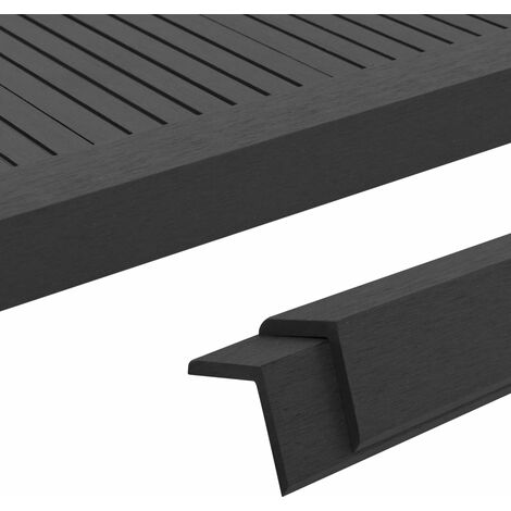 """main image of """"5 pcs Decking Angle Trims WPC 170 cm Black31824-Serial number"""""""