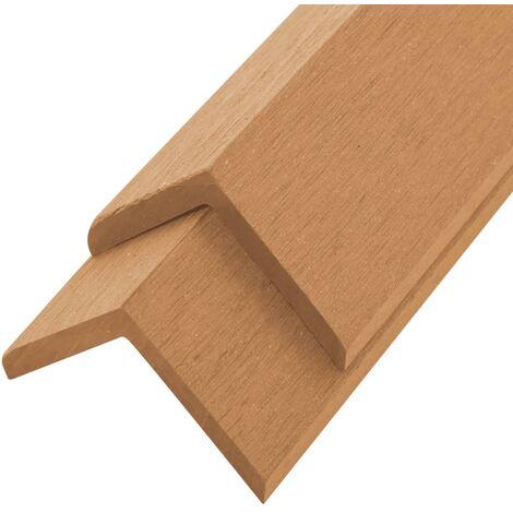 5 pcs Decking Angle Trims WPC 170 cm Teak Colour