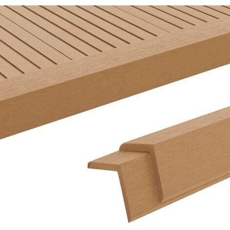 5 pcs Decking Angle Trims WPC 170 cm Teak Colour - Brown