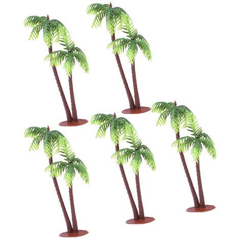 5 Pcs En Plastique Cocotier Palmier Miniature Plant Pots Bonsaï Artisanat Micro Paysage DIY Décor